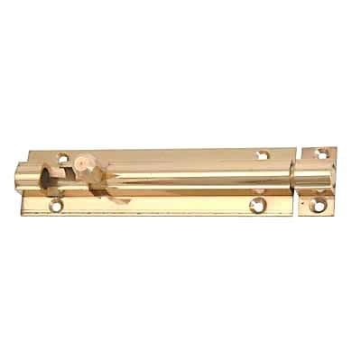 Altro Straight Barrel Bolt - 100 x 25mm - Polished Brass