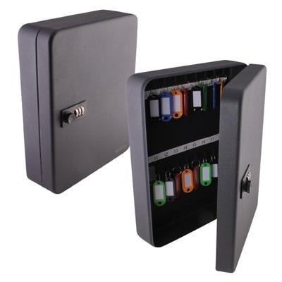 Sterling Combination Key Cabinet - 36 Hook - Black