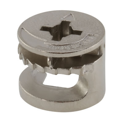 Rimless Cam Connector - Min Panel Thickness 15mm - Nickel Plated - Pack 50