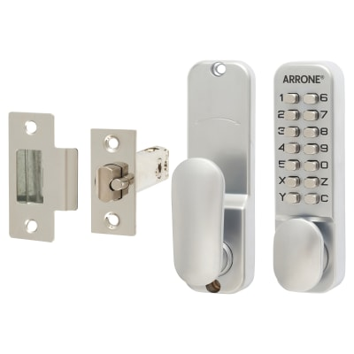 Arrone Code Lock - Holdback Option - Satin Chrome Plated