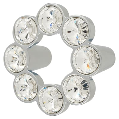 Venice Circular Crystal Cabinet Handle - 50mm - Chrome