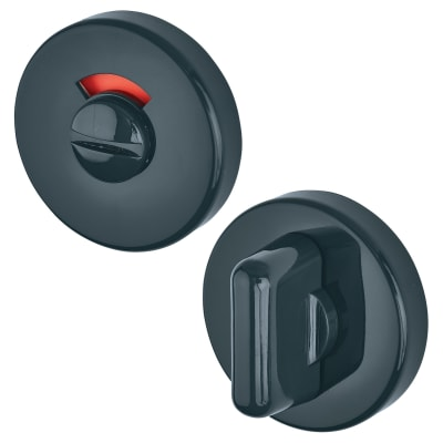 Hoppe Paris Coloured Nylon Bathroom Turn & Release - 52 x 9mm - Anthracite Grey