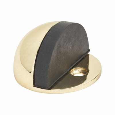 Touchpoint Half Moon Floor Door Stop - 45mm - Polished Brass