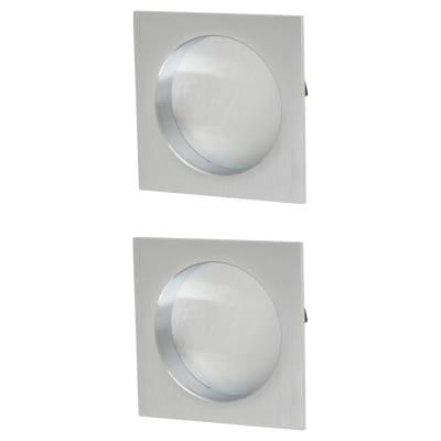 M Marcus Square Flush Pull Handles - Satin Chrome