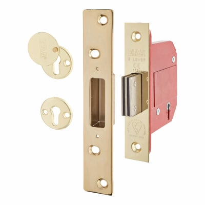 ERA BS3621:2007 5 Lever Deadlock - 67mm Case - 44mm Backset - Brass