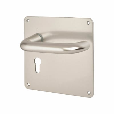 Touchpoint 20mm Return to Door Lock Handle - Euro - 160 x 160 x 3mm - Aluminium