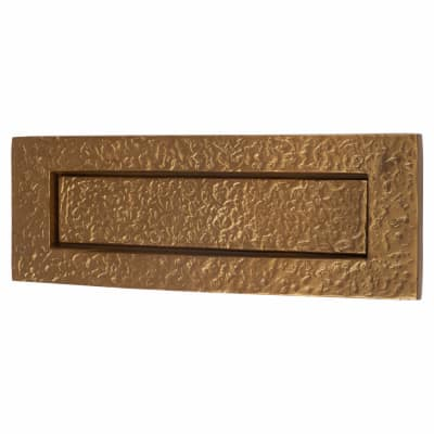 Olde Forge Plain Letter Plate - 254 x 90mm - Antique Bronze