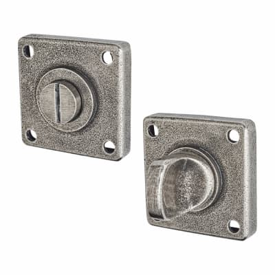 Finesse Jesmond Bathroom Door Turn & Release Set - Pewter