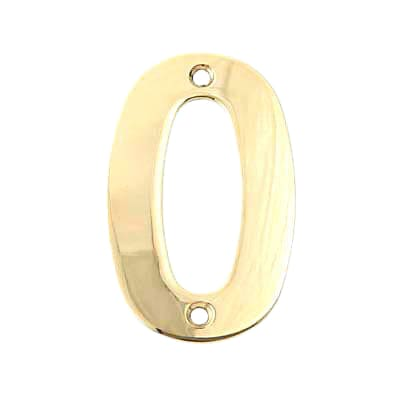 100mm Numeral - 0 - Brass PVD