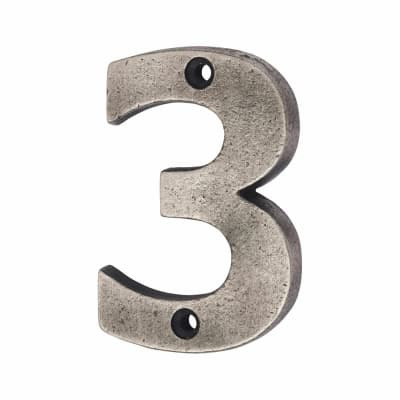 Olde Forge 78mm Numeral - 3 - Pewter