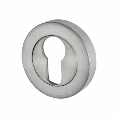 Excel Escutcheon - Euro - Satin Chrome