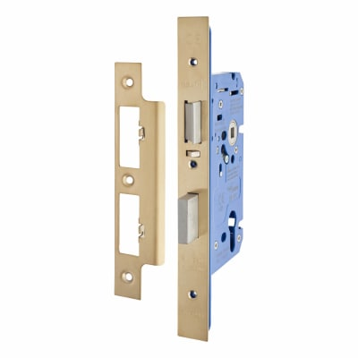 Hampstead Architectural DIN Euro Escape Sashlock - 85mm Case - 60mm Backset - PVD Brass