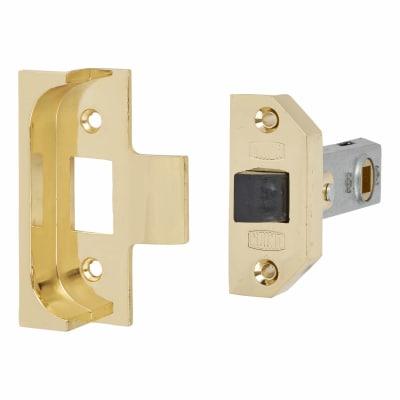UNION 2650 Rebated Tubular Latch - 80mm Case - 57mm Backset - Electro Brass