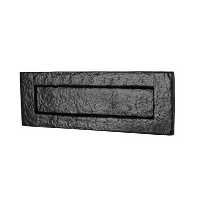 Olde Forge Plain Letter Plate - 254 x 90mm - Antique Black Iron