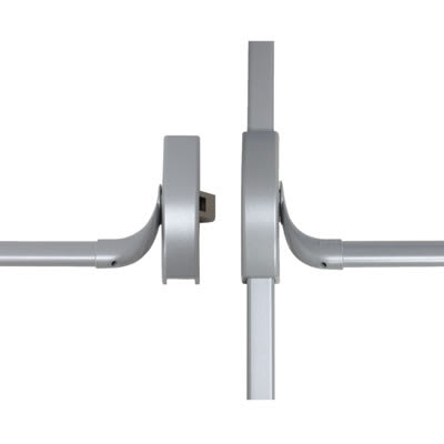 DORMA PHA2000 Rebated Double Door Panic Bar Set - Timber Door
