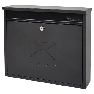 Burg Wachter Elegance Mailbox - 362 x 310 112mm - Black