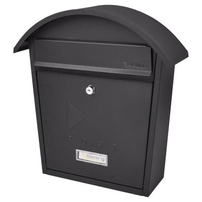 Burg Wachter Classic Postbox - 363 x 370 x 134mm - Black