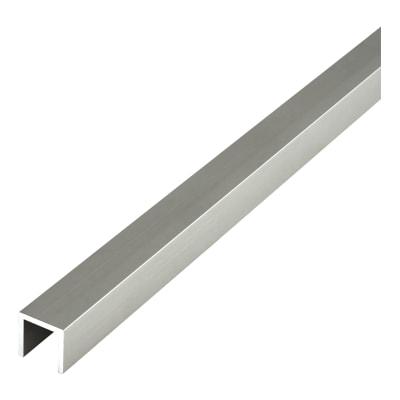 Cubicle Head Rail - 'U' Channel - 12-13mm Panels - 304 Stainless Steel