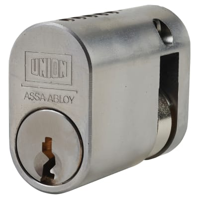 UNION J2X1 Oval 2 x 1 Single Cylinder - 40mm - Satin Chrome
