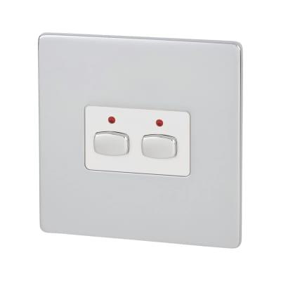 MiHome 2 Way Light Switch - Polished Chrome