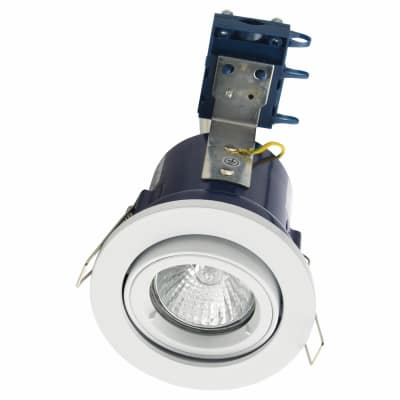 Forum Yate Adjustable LED Fire Rated Downlight - White