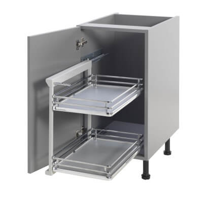 Base Pull Out Plus with Soft Close - Left Hand - Fits to Cabinet Width 400mm