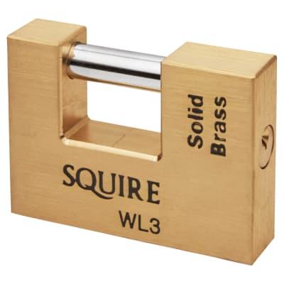 Squire Brass Shutter Lock - 90mm