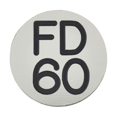 FD60 Door Sign Self Adhesive - 25mm - Silver