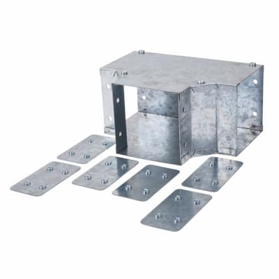 Top Lid Tee - 100 x 100mm - Galvanised