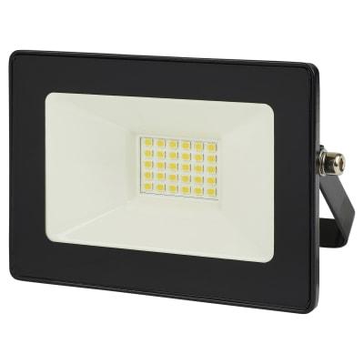 10W 6000K LED Square Floodlight - Black