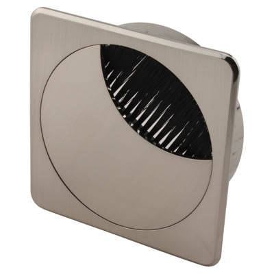 ION Square Cable Tidy - 80mm - Brushed Nickel
