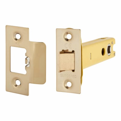 Altro Heavy Duty Tubular Latch - 103mm Case - 82mm Backset - Electro Brass