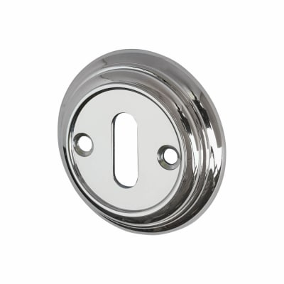 Aglio Escutcheon - Keyhole - Polished Chrome