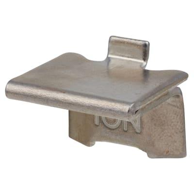 ION Heavy Duty Raised Bookcase Clip - Satin Chrome Plated - Pack 10