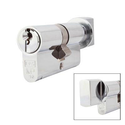 Eurospec MP10 - Euro Cylinder and Turn - 32[k] + 32mm - Polished Chrome  - Keyed Alike