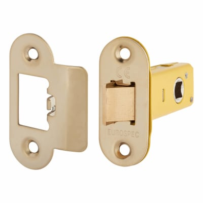 Altro Heavy Duty Tubular Latch - 65mm Case - 44mm Backset - Radius - Electro Brass