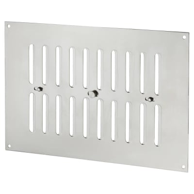 Hit & Miss Pattern Vent - 242 x 165mm - 3741mm2 Free Air Flow - Polished Stainless