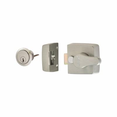 Arrone® Nightlatch - 40mm Backset - Satin Chrome Case/Cylinder