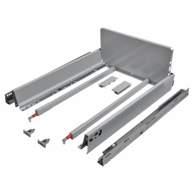 Blum TANDEMBOX ANTARO Pan Drawer - BLUMOTION Soft Close - (H) 203mm x (D) 550mm x (W) 450mm - Grey
