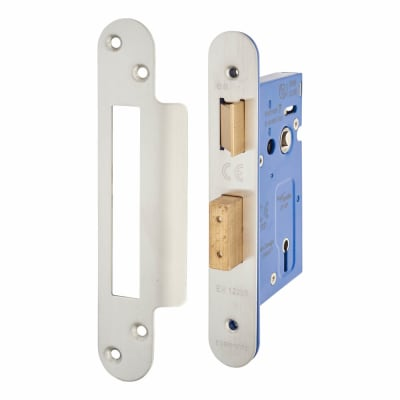 A-Spec Architectural 3 Lever Sashlock - 65mm Case - 44mm Backset - Radius - Satin Stainless