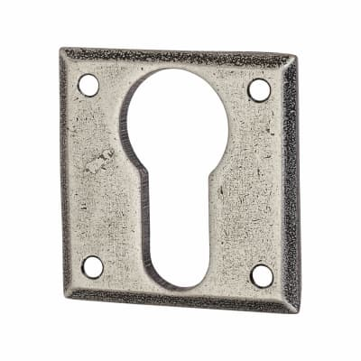 Olde Forge Square Escutcheon - Euro - Pewter