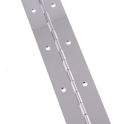 Steel Piano Hinge - 1850 x 38 x 0.7mm - Nickel Plated