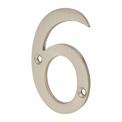Morello Door Numeral - 6 - 76mm - Satin Nickel