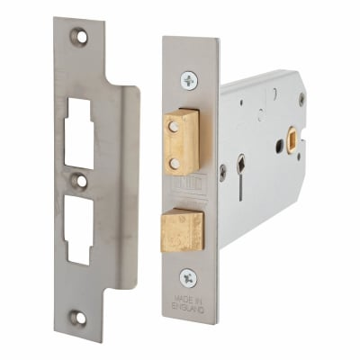 UNION® 2026 Horizontal Bathroom Lock - 124mm Case -38 - 101.5mm Backset - Satin Stainless Steel