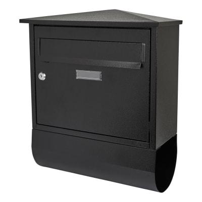 Belfast Letter Box and Newspaper Holder - 430 x 38 x 170mm - Black