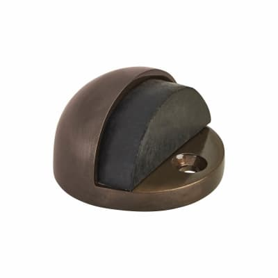 Jedo Oval Door Stop - 46mm - Dark Bronze