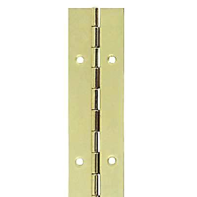 Steel Piano Hinge - 1800 x 32 x 0.7mm - Brass Plated