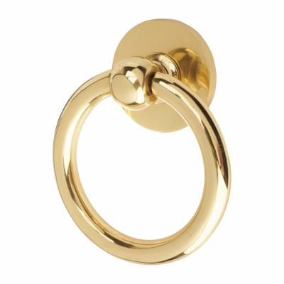 Victorian Ring Door Knocker - 127mm - Polished Brass
