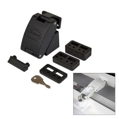 Jackloc Folding Key - Lockable Window Restrictor - Black