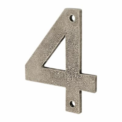 Finesse Numeral Number - 4 - Pewter